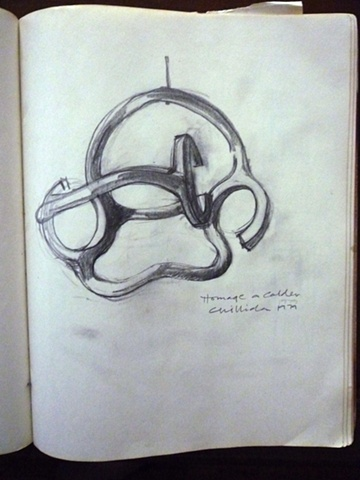 Study of Homage a Calder by Eduardo Chillida