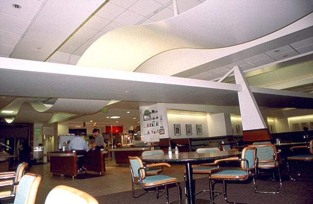 LA Times Cafeteria Ceiling sculpture