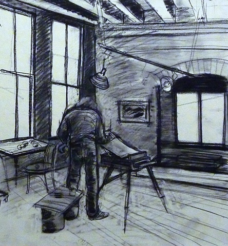 Rick painting