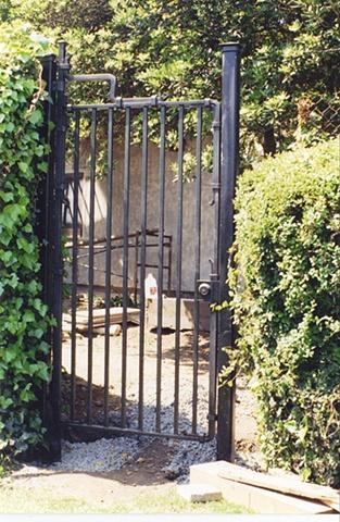 Garden gate Greene & Greene's Robertson House  Pasadena Ca Metalmorphosis