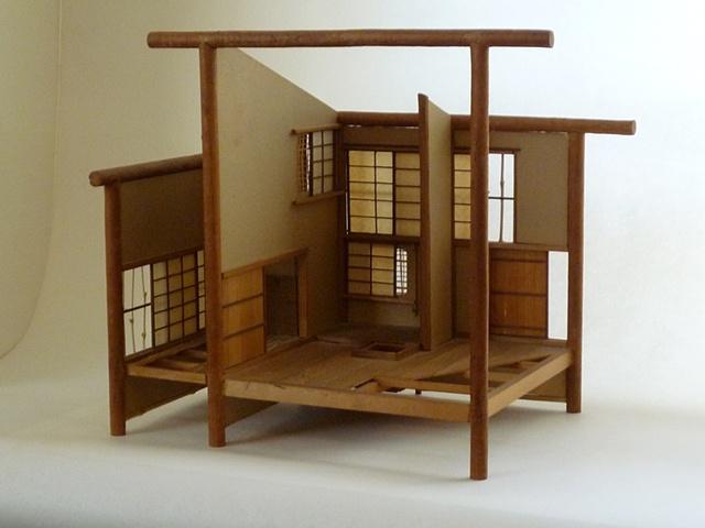Study of a 1 3/4 mat tea house (I think outside Kyoto). Around 1980.