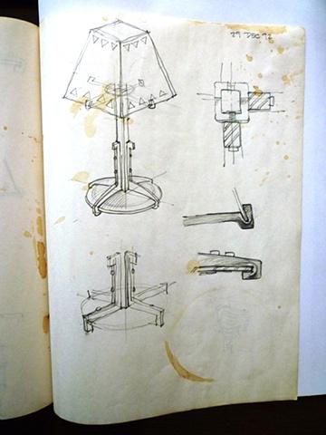Craftsman style lamp study