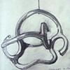 Study of Homage a Calder by Eduardo Chillida