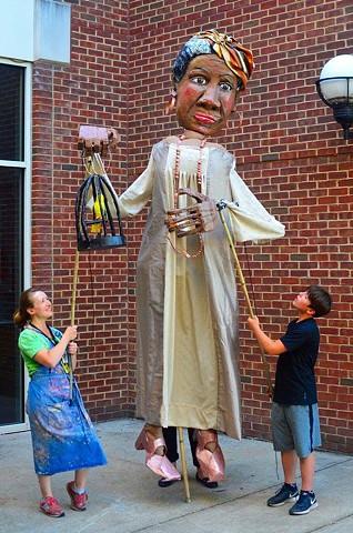 Maya Angelou Processional Puppet