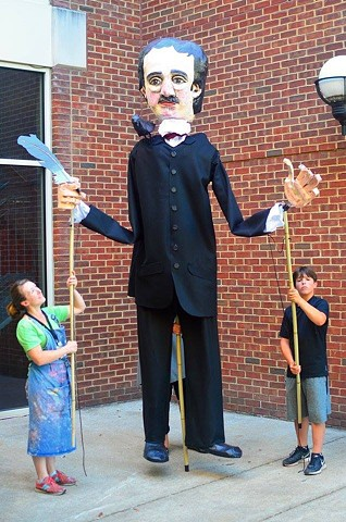 Edgar Allan Poe Processional Puppet
