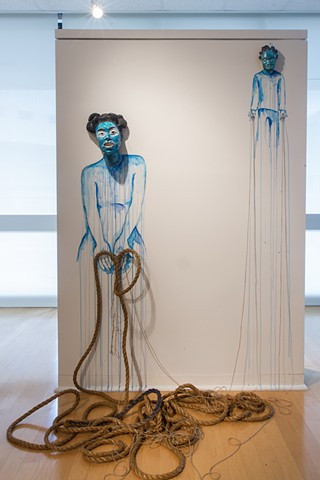 Rope giver 2015 By Interdisciplinary Artist Aisha Tandiwe Bell. Photo By Selina Roman