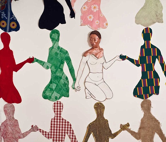Aisha Tandiwe Bell illustrating Multiple Identity