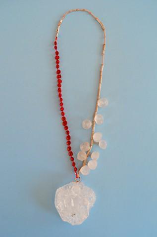 necklace, Concrete, silver, dried apple