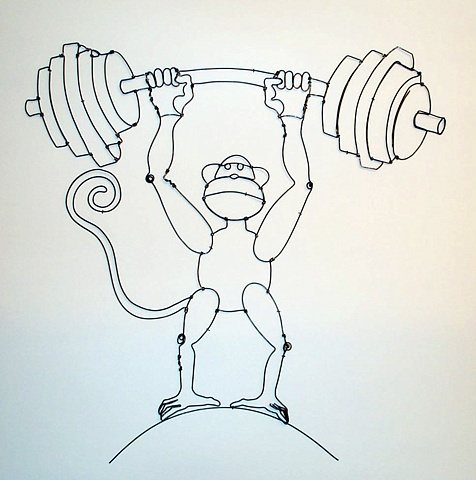 Weight Lifter Monkey