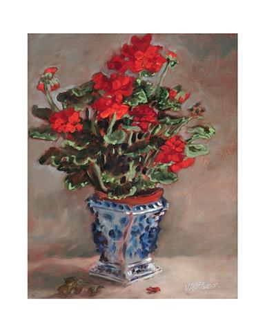 Geranium In Vase