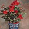 Geraniums In Vase
