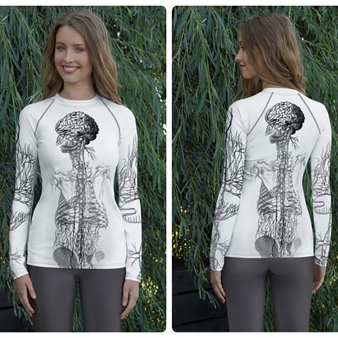 Poly-vagal Theory Rash Guard Activewear Shirt