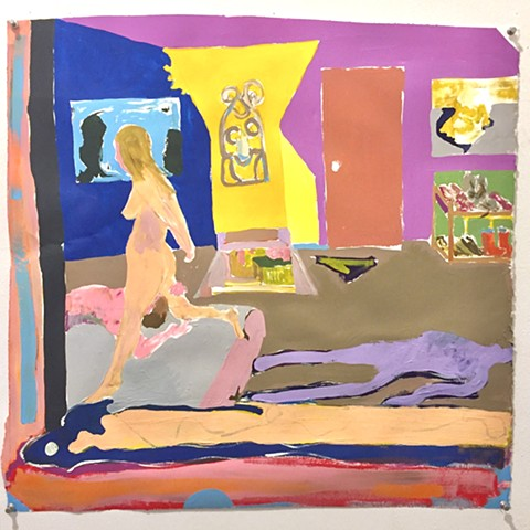 Couple in Bed, Rug, Warhol