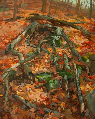 contemporary forest floor painting ozarks