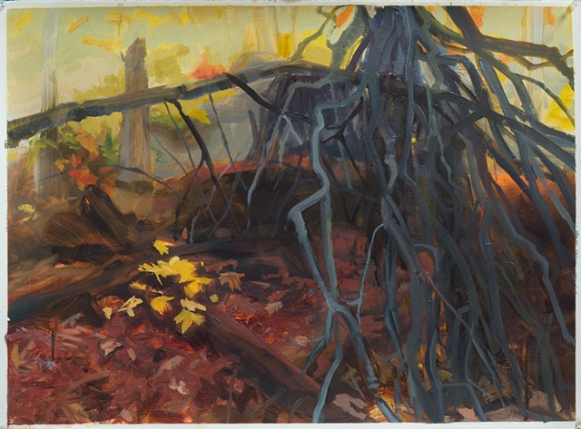 forest floor contemporary painting