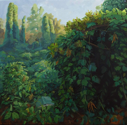 contemporary landscape painting invasive species