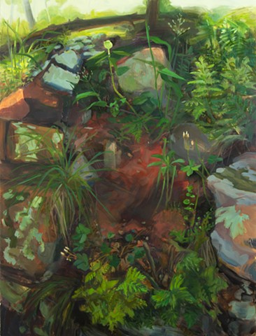forest floor painting pzarks