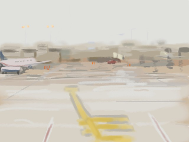philadelphia airport ipad drawing