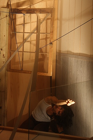 from 99 Lines site-specific installation, 4- hour durational performance