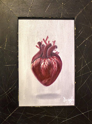 Art, Painting, Pascal Leo Cormier, Payazo, Heart, Meat, Machine, Valentine