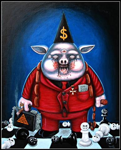 Pig, Enlightenment, Illuminati, Greed