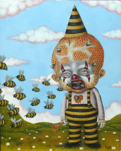 Bumble Bees, Honey, Honey Comb, Clown, Bees, Bee Hive, Sweet Heart