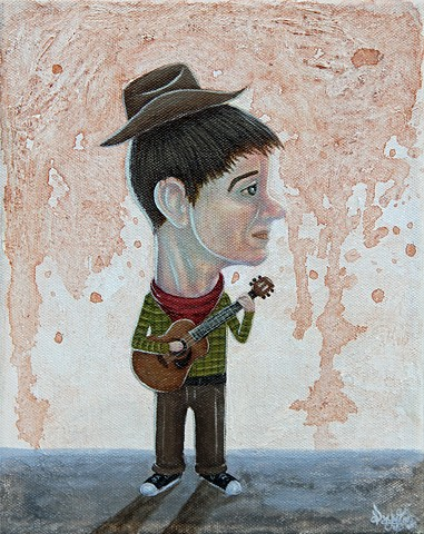 Pascal Leo Cormier, Payazo, Music, Painting, Guitar, Country, Sad Song, Cry, Cowboy, Boy, Kid