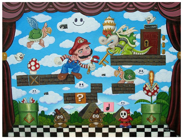 Mario Bros, The Plumber, Pascal Leo Cormier, Payazo, Bowzer, Mushroom, Super Mario Brothers, Nintendo, Video Game
