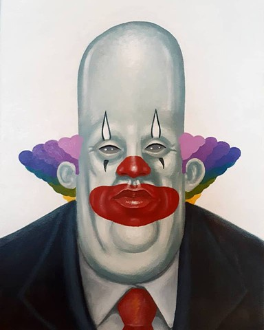 Artist, Art, Portrait, Oil Painting, Acrylic Painting, Drawing, Clown,Pascal Leo Cormier, Montreal, Contemporary Art, Lowbrow Art, Hi Fructose Magazine, Juxtapoz Magazine