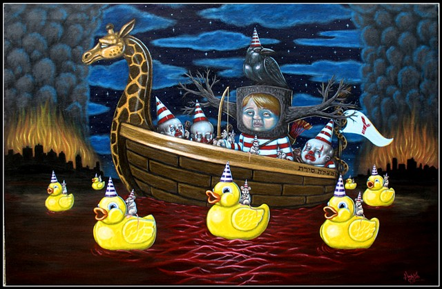 Boat, Life Boat, Pascal Leo Cormier, Payazo, Fire, Apocalypse, Blood, Rubber Ducky, Lab Rats, Clown