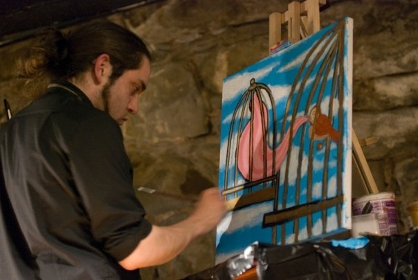 Live Painting for Live Poetry Evening