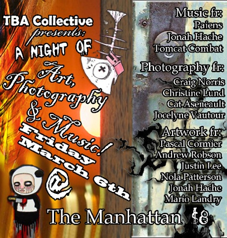 TBA Collective Art & Music Show Poster