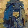 Ferry at Night private collection