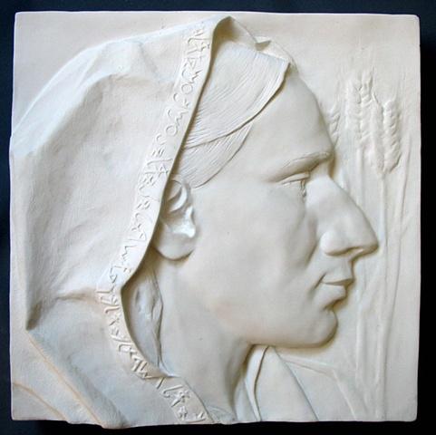 Bas relief: Ruth, by sculptor Rivkah Walton