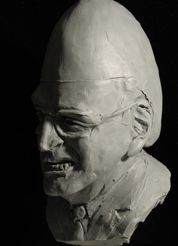 Caricature sketch: WMD (Dick Cheney), by sculptor Rivkah Walton