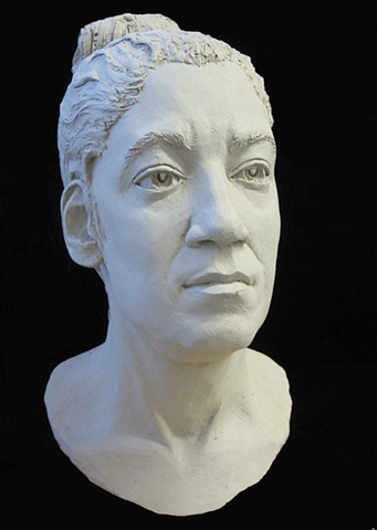 Vision-Maker - life-sized terra cotta bust by sculptor Rivkah Walton