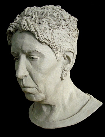 Still She Grieves - Life-sized portrait bust by sculptor Rivkah Walton