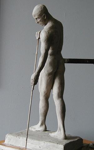 Male Figure Study 1, by sculptor Rivkah Walton