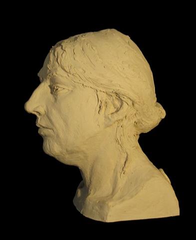 "Jenn ""Alla Prima"" - a terra cotta portrait study of artist Jenn Warpole by sculptor Rivkah Walton"