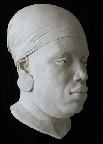 All This Time, Lord - Life-sized terra cotta portrait by sculptor Rivkah Walton