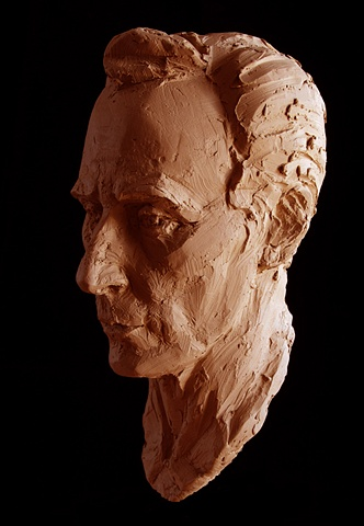 "The Advocate - bust by sculptor Rivkah Walton after ""Portrait of Charles Sures"" by Stuart Mark Feldman"