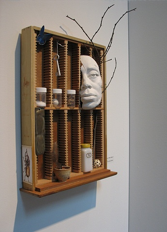 Assemblage/Constructed mixed media: Fragments of a Future Dream I: Exodus, by sculptor Rivkah Walton