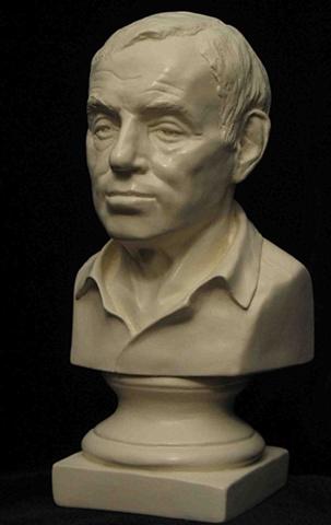 Marty Hirsch - minature portrait bust by sculptor Rivkah Walton - private commission
