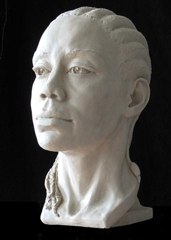 Eve - Life-sized portrait bust by sculptor Rivkah Walton
