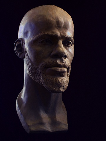 Adam - life-sized bust by sculptor Rivkah Walton
