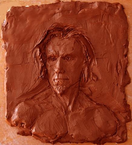 portrait relief: No Doubt, by sculptor Rivkah Walton
