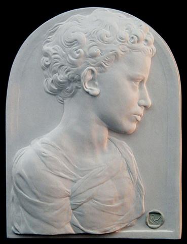 Youth in the Style of Desiderio da Settignano, as copied by sculptor Rivkah Walton