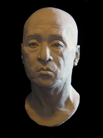 Philosopher/Portrait of Ming Lu - life-sized terra cotta portrait by sculptor Rivkah Walton