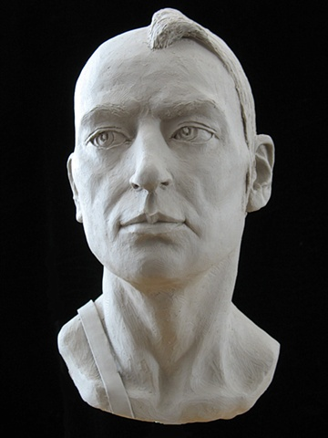 Young Amazon - life-sized portrait bust by sculptor Rivkah Walton