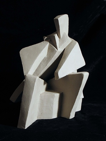 Abstract Seated Man